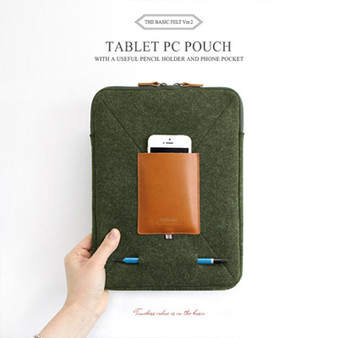The Basic Felt Tablet PC Pouch