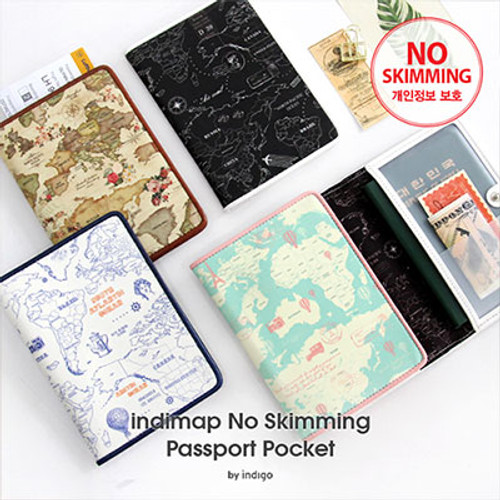Indimap No Skimming Passport Pocket