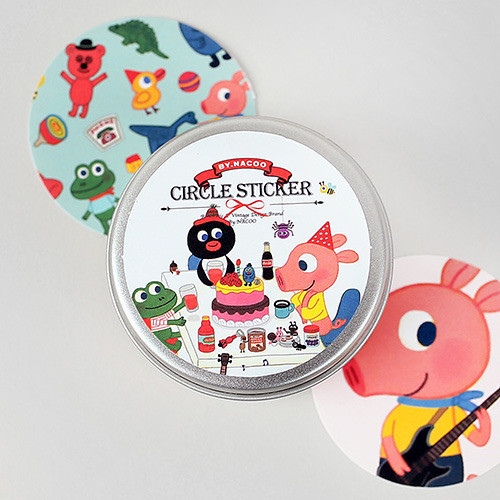 Circle Sticker Tin-09 Friends