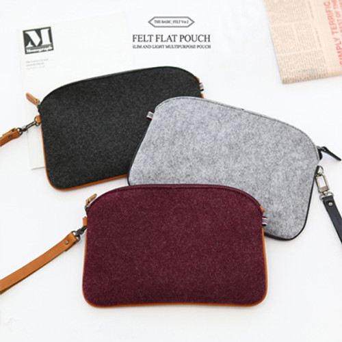 The Basic Felt Flat Pouch
