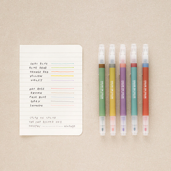 Twin Plus pen V.2 vintage (10 colors)