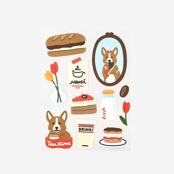 Remover Sticker - 13 Cafe corgi