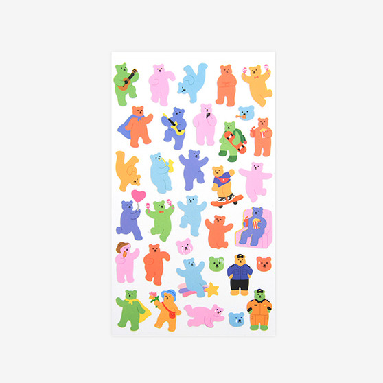 paper sticker - 13 Jelly bear 2