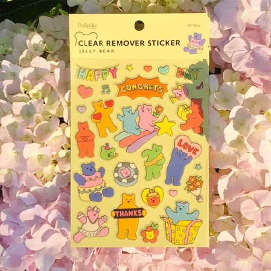 Clear Remover Sticker (Jelly Bear)