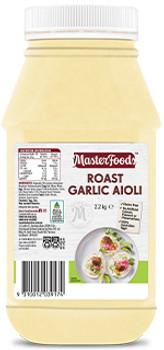 Masterfoods Roast Garlic Aioli 2.2kg