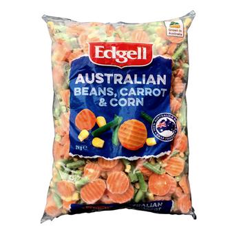 Edgell Australian Veg Beans Carrot Corn 2kg