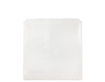Square Flat White Glassine Paper Bags 215 x 200mm GF02W x 500 Pack