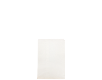Square Flat White Paper Bag 200 x 165mm WF01W x 500 Pack