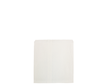 Square Flat White Paper Bag 215 x 200mm WF02W x 500 Pack