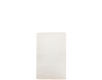 Flat White Paper Bag 250 x 165 mm WF02 x 500 Pack