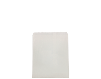 Flat White Paper Bag 250 x 200mm WF03 x 500 Pack