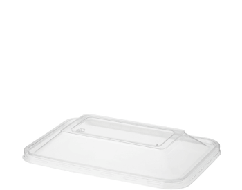 Clear Plastic Dome Lids Rectangle 50 Pack