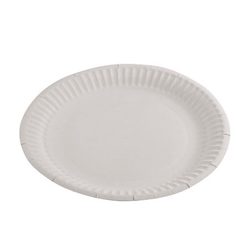 Paper Plates 9 Inch Round White