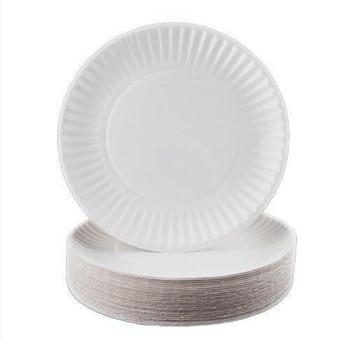 Capri Round 6 Inch White Paper Plates