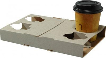 4 Cup Cardboard Carrier Tray