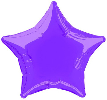 Balloons Foil Star 20Inch Purple