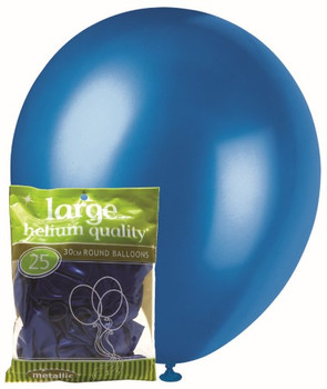 Balloons Metallic 25 - Blue