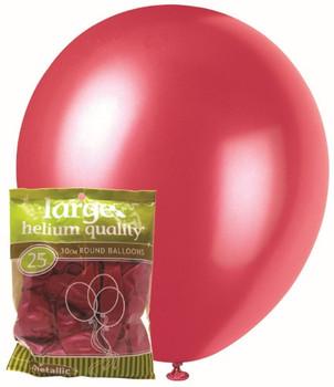 Balloons Metallic 25 - Pink
