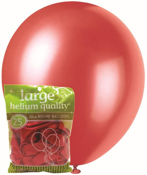 Balloons Metallic 25 - Red