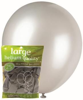 Balloons Metallic 25 - Silver