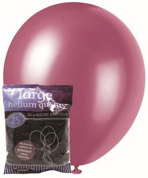 Balloons Pearl 25 - Burgundy