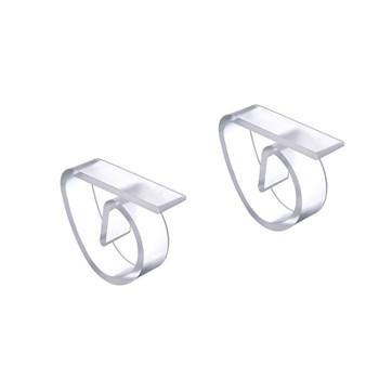 Tablecloth Clips Clear 4Pk