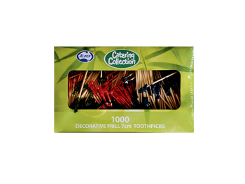 TOOTHPICKS FRILLED 2.5INCH 7cm 1000 PACK