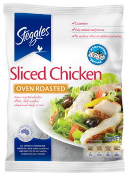 Steggles Sliced Chicken Meat Free Flow 1kg