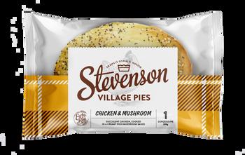 Stevenson's Village Chicken & Mushroom Pies 200g