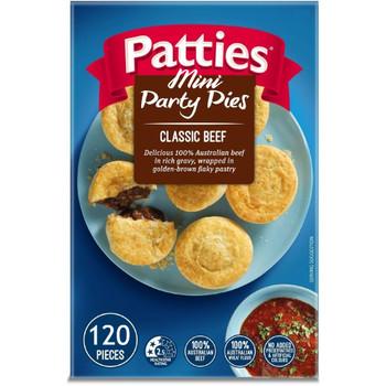 Patties Mini Party Pies 120 Carton