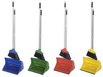 Lobby Dustpan With Broom - Yellow