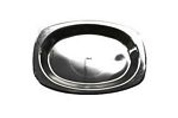 Plate Buffet Black Plastic x 50 -Chanrol