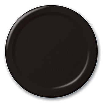 Plate Round 230mm Black Pkt 50 - Chanrol
