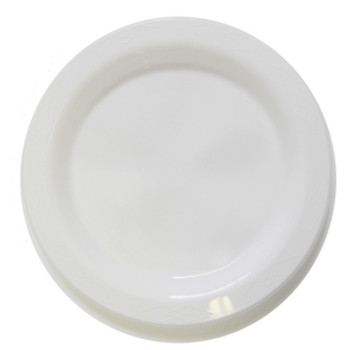 Plate Round 230mm White Pkt 50 - Chanrol