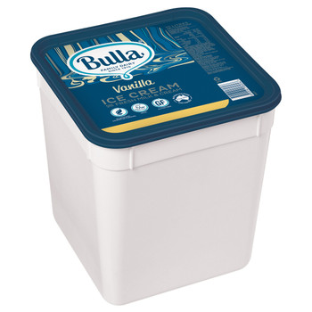 Bulla Real Dairy Vanilla Ice Cream 10 Litre