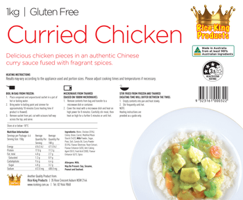 Rice King Curried Chicken Spec Sheet