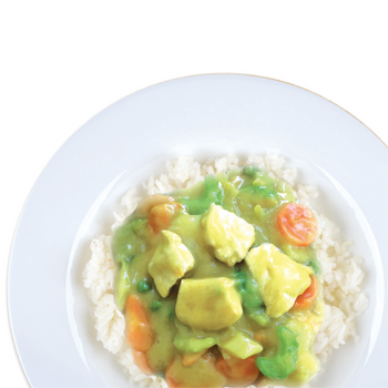 Rice King Curried Chicken Plated
