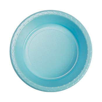 Bowl Plastic 172mm Blue Pastel 20 Pk - Five Star