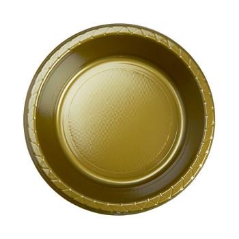 Bowl Plastic 172mm Gold 20 Pk - Five Star