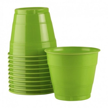 Cup Green Lime Plastic 285ml x 25