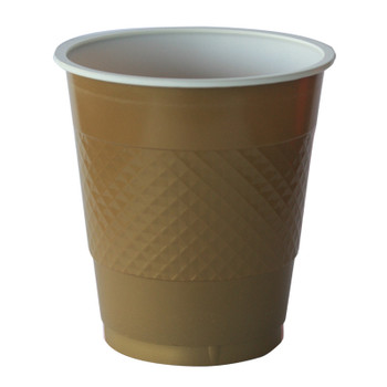 Cup Gold Plastic 12ozl x 20