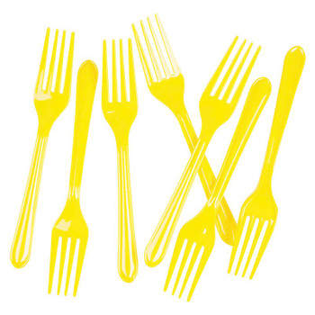 Fork Yellow 20Pkt - Five Star