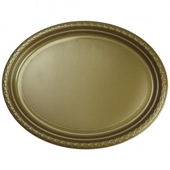 Plate Oval 315mmx245 Gold Pkt20