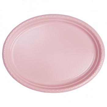 Plate Oval 315mmx245 Pink Pkt20