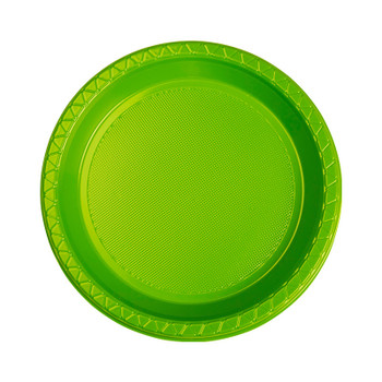 Plate Round 172mm Lime Pkt 20