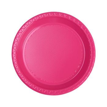 Plate Round 172mm Magenta Pkt 20