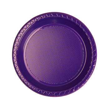 Plate Round 172mm Purple Pkt 20