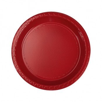 Plate Round 172mm Red Pkt 20