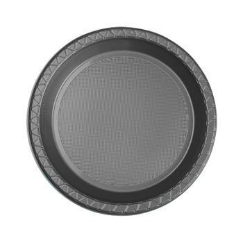 Plate Round 172mm Silver Pkt 20