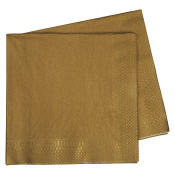 Serviettes Gold Metallic Dinner 2Ply 40